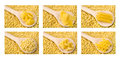 Raw pasta collage Royalty Free Stock Images