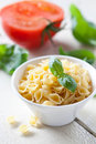 Raw pasta conchiglie Royalty Free Stock Photo
