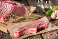 Raw pork chop Royalty Free Stock Photo