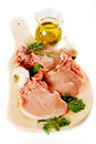 Raw pork loin chops Royalty Free Stock Photo