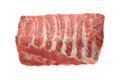 Raw pork ribs on white background Royalty Free Stock Photo