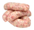 Raw Pork Sausages Royalty Free Stock Photo