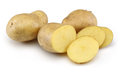 Raw Potato and Sliced Potato Stock Photography
