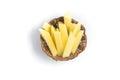 Raw Potato sliced strips Royalty Free Stock Photo