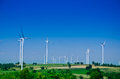 Raw power energy.Wind turbines to produce electricity Royalty Free Stock Photo