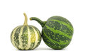 Raw pumpkins on white background Stock Images