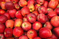 Raw red apple heap Royalty Free Stock Photo