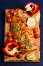 Raw ribs in marinade