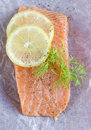 Raw salmon fillet Stock Photos