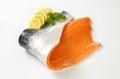 Raw salmon fillet Royalty Free Stock Photo
