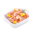 Raw shrimps Royalty Free Stock Photo