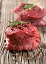 Raw steak with pepper Royalty Free Stock Photography