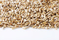 Raw sunflower seed hulled kernels Royalty Free Stock Photography