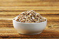 Raw sunflower seed hulled kernels Stock Image