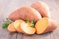 Raw sweet potato Royalty Free Stock Photo