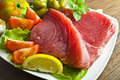 Raw tuna steak Royalty Free Stock Photo
