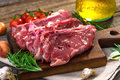 Raw veal steak Royalty Free Stock Photo
