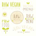 Raw vegan badges.
