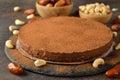Raw vegan chocolate cake Royalty Free Stock Photo