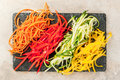 Raw vegetable noodles Royalty Free Stock Photo