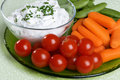 Raw Vegetable Snack Plate Royalty Free Stock Photography