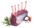 Raw venison rack Royalty Free Stock Images