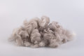 Raw wool yarn coiled into a ball Royalty Free Stock Photo