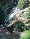 Rawana waterfall in Sri Lanka
