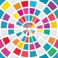 Ray circle target seamless pattern