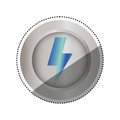 Ray electricity symbol Royalty Free Stock Photo