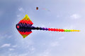 Ray kite flying of a sea creature shape Stock Photo
