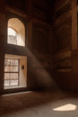 Ray of sun coming through window in agra fort uttar pradesh india Stock Photography