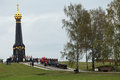 Rayevskys redoubt moscow region russia sep the celebration of the th anniversary of the battle of borodino in preparation for the Stock Photography