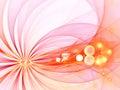 Rayons chauds roses, arcs avec des bulles - image de fractale Images stock
