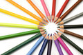 Rays of color pencils Royalty Free Stock Photo