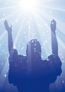 RAYS JESUS 2 Royalty Free Stock Images