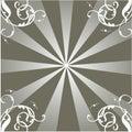 Rays ornament Stock Image