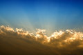 The rays of the sun breaking through the clouds Royalty Free Stock Photo