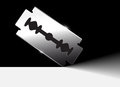 Razor blade shiny vector illustration Royalty Free Stock Photography