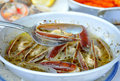 Razor clams cooked in white sauce (Saganaki) Royalty Free Stock Images
