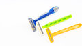 Razor two and three knives in variety color and design Royalty Free Stock Photo