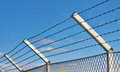 Razor wire fence Royalty Free Stock Photography