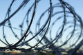 Razor wire silhouette Royalty Free Stock Photo