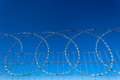 Razor Wire Steel Fence Royalty Free Stock Images
