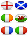 RBS 6 Nations Rugby Icons Stock Image