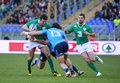 Rbs nations italy ireland rugby round rome it stadio olimpico february vs score irelands jared payne attacking Stock Photo