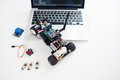 Rc car made on base of microcontroller Royalty Free Stock Photo