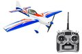 Rc plane and radio remote control isolated on white background Royalty Free Stock Images