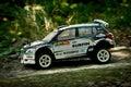Rc rally car Skoda Fabia S2000 Royalty Free Stock Photo