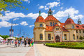 Rchitecture of Sopot at the Molo in Poland Royalty Free Stock Photo